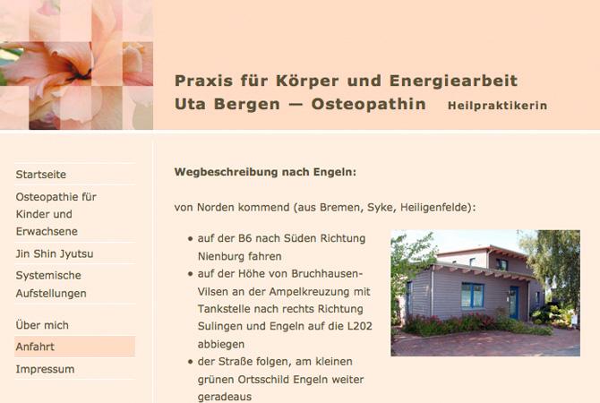 Screenshot Uta Bergen