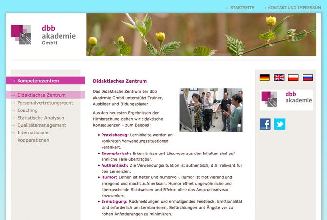 Screenshot dbb Akademie