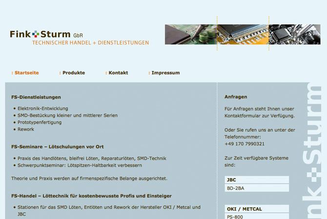 Screenshot Fink + Sturm
