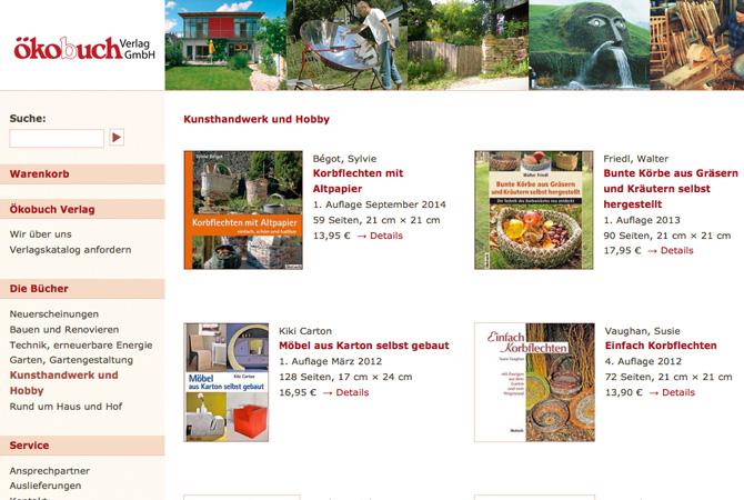 Screenshot Öekobuch Verlag