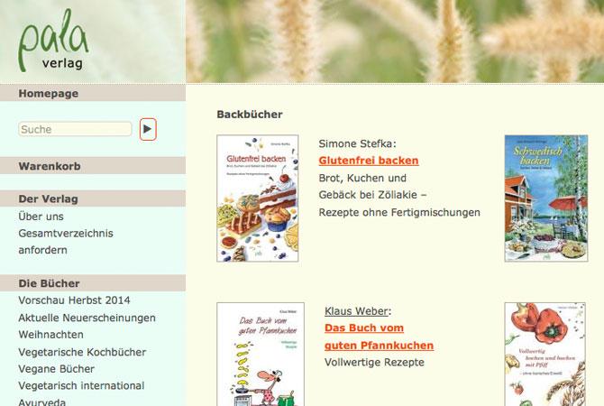 Screenshot Pala Verlag
