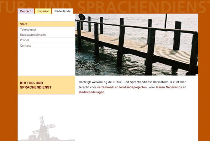 Screenshot kultur und Sprachendienst